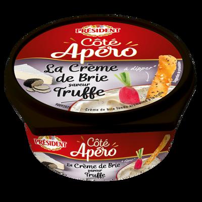 Crème de brie fondue aromatisé à la truffe PRESIDENT côté apéro, 105g