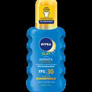 Nivea Crème Solaire Protect Et Bronze Spf30 Nivea Sun, Flacon De 200ml
