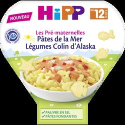 Assiette pâtes avec légumes et colin d'Alaska bio dès 12 mois HIPP, 230g
