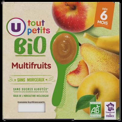 Pots dessert multifruits 6mois U TOUT PETITS BIO 4x100g