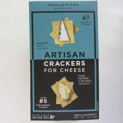 Crackers de Quinoa au poivre rose PAUL AND PIPPA,150g