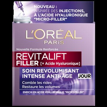 L'Oréal Soin Anti-âge De Jour Revitalift Filler H.a Revolumisant Dermo Expertise, Pot De 50ml