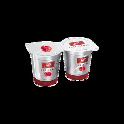 Yaourt à la crème sur préparation de framboises Excellence SWISS DELICE, 2x125g
