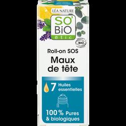 Roll-on sos maux de tête 7 huiles essentielles bio SOBIO 5ml