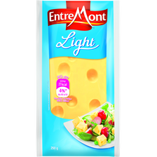 EMMENTAL light lait pasteurisé 8.50% de MG, portion de 250g