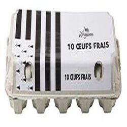 Oeufs frais LA CROIX VERTE, boîte de 10 oeufs