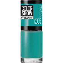 Vernis à ongles colorshow 120 urban turquoise MAYBELLINE, nu
