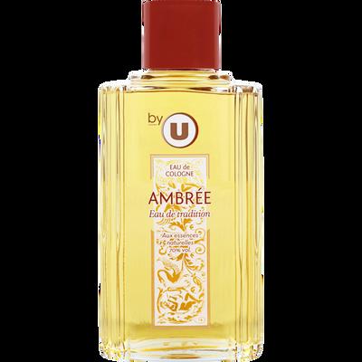 Eau de Cologne ambrée BY U, flacon de 250ml