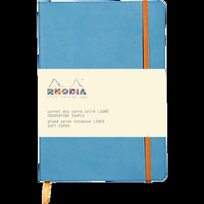 Carnet Soft-cover à élastiques RODHIA, 14,8x21cm, 160 pages, coloris assortis