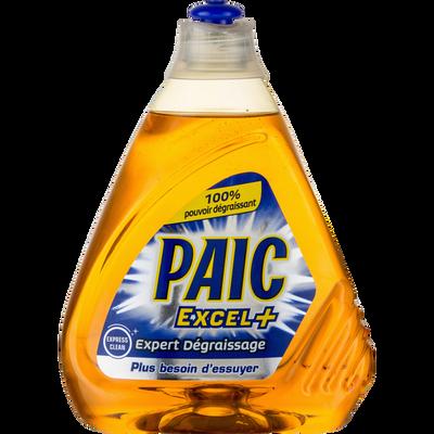 Liquide vaisselle Expert Dégraissage PAIC EXCEL+, flacon de 500ml