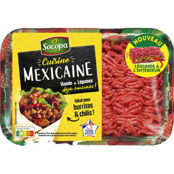Haché cuisine mexicaine, SOCOPA, France, barquette, 350g