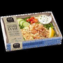 Salade mezze boulghour crudités saumon fumé avec cup et blinis MIX BUFFET, 320g