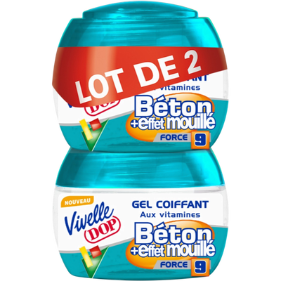 Gel béton mouillé VIVELLE DOP, 2 pots de 150ml