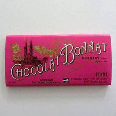Chocolat noir au beurre de cacao  Haiti  BONNAT,100gr