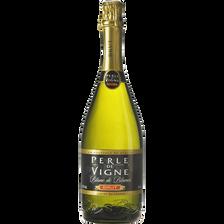 Vin mousseux blanc de blancs brut Perle de Vigne U, 75cl