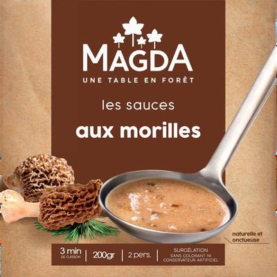 Sauce aux morilles cuisinée surgelée MAGDA, 200g