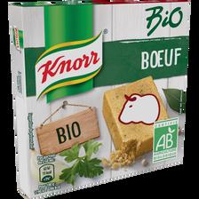 Bouillon de boeuf bio KNORR, 6 cubes, 60g