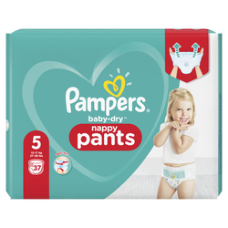 Couches baby dry pants PAMPERS géant taille 5 x37