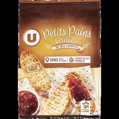 Petits pains grillés au blé complet U, paquet de 225g