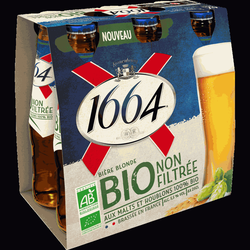 Bière blonde 1664 Bio 5°5, 6x25cl