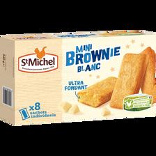 Mini brownie blanc cocottes SAINT MICHEL, 8 sachets individuels, 240g