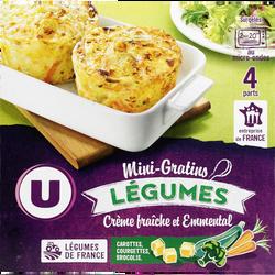 Mini gratins de légumes U, 4x120g