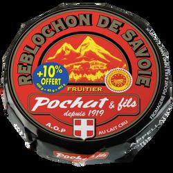 Reblochon AOP fruitier Savoie au lait cru POCHAT, 27%mg, 450g + 10% offert