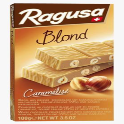 Chocolat ragusa blond CAMILLE BLOCH, tablette de 100g
