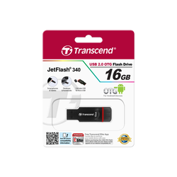 Clé USB TRANSCEND 2.0 16Go + micro USB série 340, noir NOIR