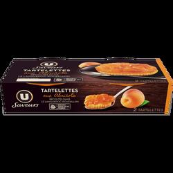 Tartelettes aux abricots sur pâte croustillant U SAVEURS 2x90g