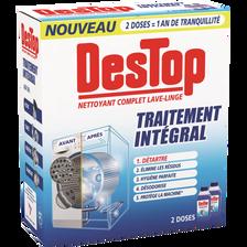 Nettoyant complet lave-linge traitement intégral DESTOP, flacon 2x250ml
