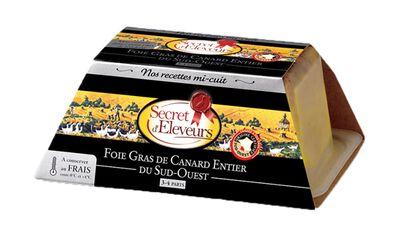 Foie gras de canard entier Mi-Cuit du Sud Ouest 180g