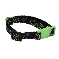 Collier fireworks vert pour chat AIME