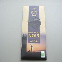 Tablette chocolat Noir 62% cacao 100gGrain de Sail