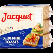 Mini-toasts nature JACQUET,  paquet de 255g