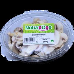 Champignon émincé, NATURETTES, barquette 100g