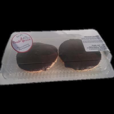 Macaron chocolat noir, MR BREDALSACE, 2 pièces, 140g