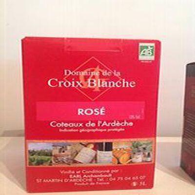 Vin rosé IGP Coteaux de l'Ardèche BIO 5L Domaine de la croix blanche
