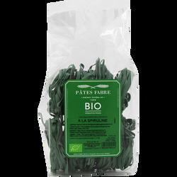 Tagliatelles bio à l'algue spiruline PATES FABRE, 250g