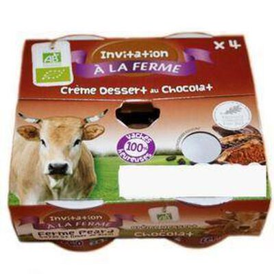 Crème dessert bio au chocolat Ana Soiz 4x100g