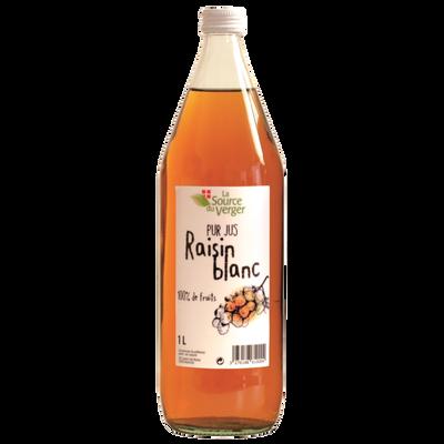 Jus de raisin blanc LA SOURCE DU VERGE, bouteille 1l