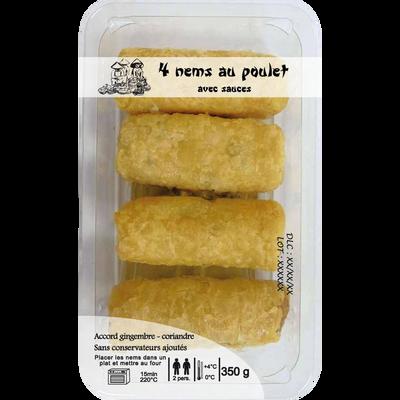 4 Nems au poulet  + sauces DELICES D'ORIENT, 350g