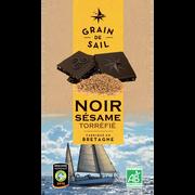 Grain de Sail Chocolat Noir Sésame Bio Grain De Sail, Tablette De 100g