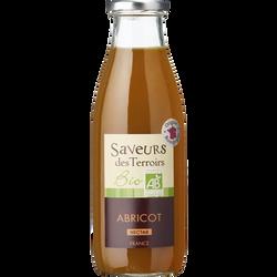 Nectar d'abricot bio SAVEURS DES TERROIRS, bouteille de 75cl