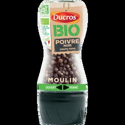 Moulin poivre noir grains bio DUCROS 30g