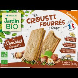 Crousti fourré chocolat noisette bio JARDIN BIOLOGIQUE 2x170g