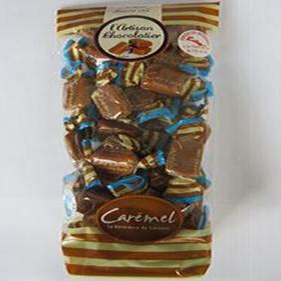 Caramel beurre salé, bonbons papillotes fleurs de sel, 250gr, sachet, L'artisan chocolatier