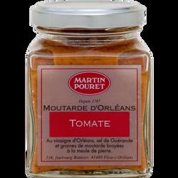 Moutarde d'Orléans saveur tomate aux graines du Val de Loire, MARTIN POURET, 200g