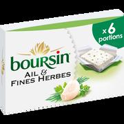 Boursin Fromage Lait Pasteurisé Ail & Fines Herbes Boursin, 41%x 6x96g