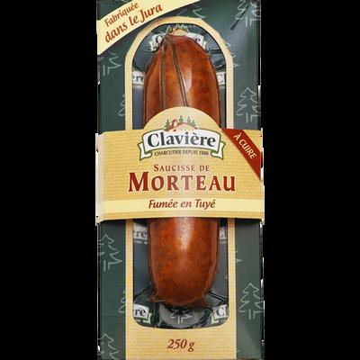 Saucisse de Morteau crue IGP CLAVIERE, 1x250g
